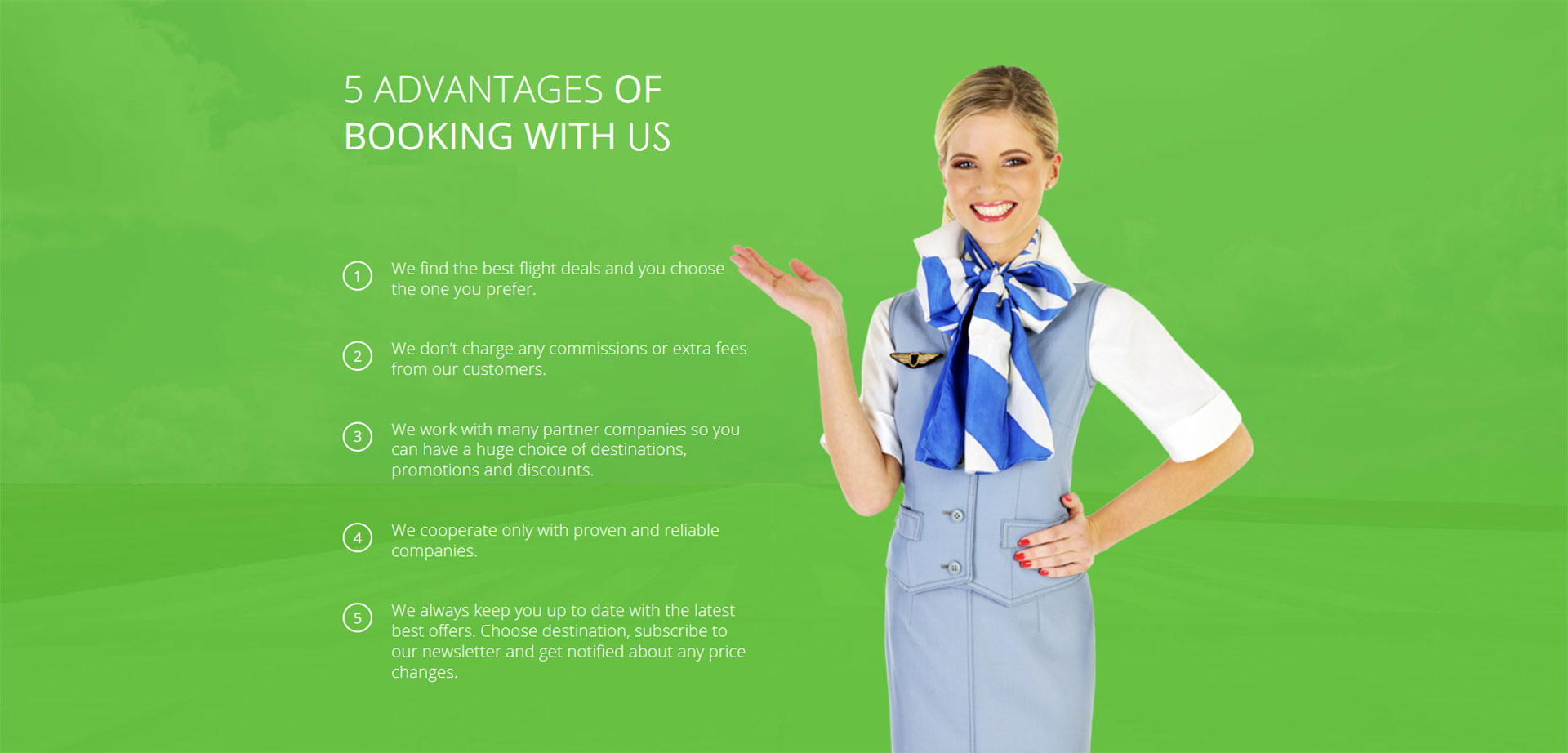 Advantages of Booking with Us